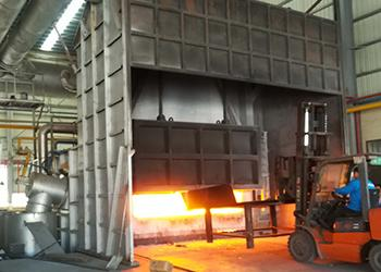 Melting and Holding Furnace, using Liquid Propane Gas Burner